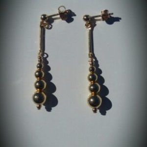 14k Gold Filled Beaded Drop Earrings NWT